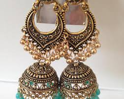 antique gold jhumka earrings antique gold jhumka etsy