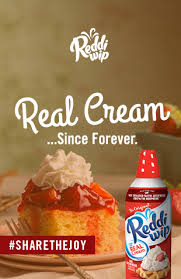 real cream whipped topping reddi wip
