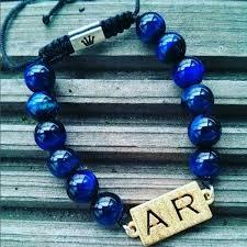 blue bead bracelet images How to style your blue tiger eye men 39 s beaded bracelets ephori jpg