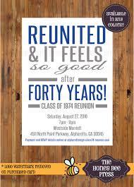 Reunion Invitation Card Reunited And It Feels So Good Reunion Invitation High