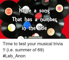 Song Name Meme - name a song that has a number in the title via lebanese meme time to