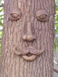 tree garden ornaments sculptures statues faces