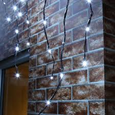 outdoor led icicle lights connectable black cable