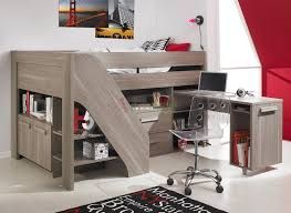 bedroom loft beds for teens with cool desk and stairs plus carpet