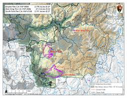 Yosemite Park Map Lightning Caused Empire Fire In Yosemite National Park Increases