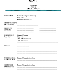 blank resume to fill out free resume example and writing