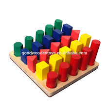 wooden toys math teaching aids color and shape sorter matching professional