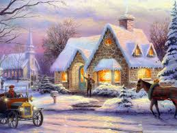 thomas kinkade halloween memories of christmas by thomas kinkade hd desktop wallpaper