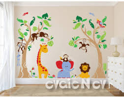 Best Wall Decals For Nursery Jungle Wall Decal Etsy