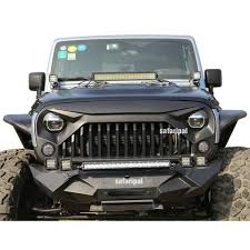 jeep wrangler front grill safaripal jeep wrangler gladiator angry front grille grill for 2007