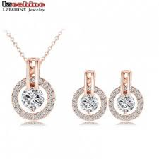 set of gold free shipping wedding gold jewelry sets gold plated jewelry sets