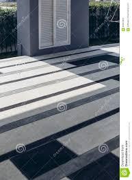 italian modern model house outdoor floor tile with blue grey