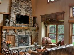 beams wood burning fireplace ceiling cabin hearth rustic vaulted