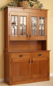 kitchen elegant oak kitchen hutch wood with glass doors used for