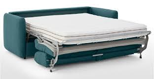 sofa bed memory foam mattress fletcher 3 seater sofa bed with memory foam mattress mineral blue
