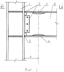 the connection node of the column with the crossbar of the frame