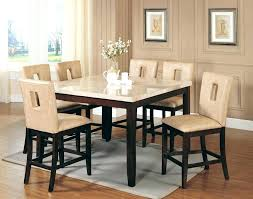 faux marble dining room table set marble dining chairs marble dining set in brown with 6 cream chairs
