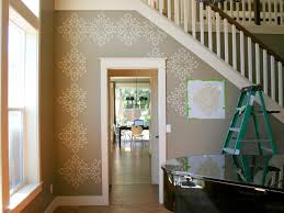 Wallpaper Designs For Dining Room How To Stencil A Focal Wall Hgtv