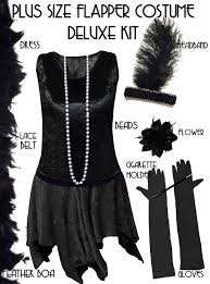 Size 4x Halloween Costumes Size Roaring 20 U0027s Black Flapper Costume Size U0026 Supersize