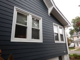 beautiful siding with royal celect siding around the window and it