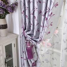 Silver Purple Curtains Curtains Silver Grey Floral Jacquard Room Darkening