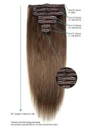 Human Hair Extensions With Clips by 20