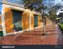 barranco lima peru antique houses traditional stock photo 81970498