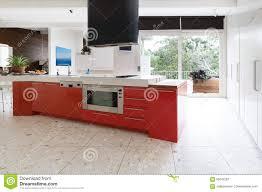 kitchen room orange red kitchen cabinets island bench modern orange red kitchen cabinets island bench modern luxury aus australian home dreamstime com