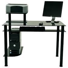 Black And Chrome Computer Desk Decoration Modern Black Computer Desk Desks Ideas With Metal