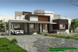 Contemporary Housing Kerala Style Single Storey 1800 Sq Feet Home Design Home