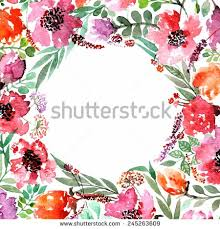 Border Designs For Birthday Cards Invitation Wedding Or Birthday Card Floral Frame Watercolor
