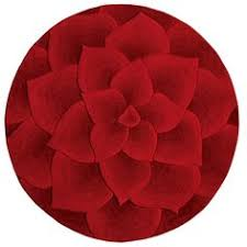 Round Red Rug Multi Colored Talise Floral Wool Rug Canvas Decor U003e Rugs