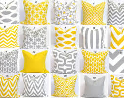 Yellow And Grey Home Decor Gray And Yellow Pillows 26x26 Inch Decorator Pillow Cover Printed