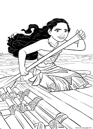 moana on a little ship coloring pages printable