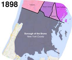 Map Of New York Manhattan And Long Island by How The Bronx U0027s Uneven Border With Westchester Came To Be Curbed Ny