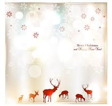 happy new year invitation elk merry christmas and happy new year invitation free vector