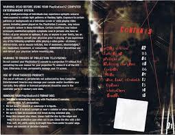 silent hill 3 manual ps2 documents