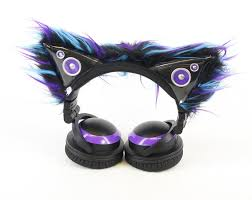light up cat headphones pawstar accent sleeves only kitty mew ear covers for cat ear