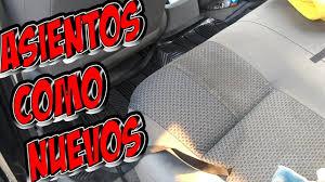 como limpiar asientos de tela de tu auto youtube