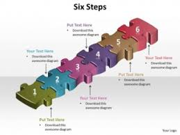 Ppt 6 Jigsaw Autoshape Puzzle Powerpoint Template Free Steps Puzzle Powerpoint Template Free