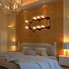 personality creative loft style arrows pipe bedroom wall light