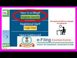 how to register and login on income tax efiling website to file