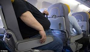 airline passenger complaint about having to sit next to obese man