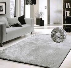 Silver Shag Rug Modern Contemporary Shaggy Area Rug 5 U0027x7 U0027 Silver Solid Shag Rug