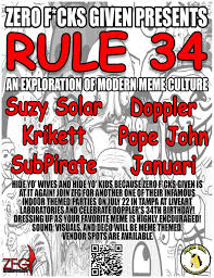 Rule 34 Memes - ra zero f cks given presents rule 34 an exploration of modern