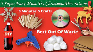 5 super easy diy must try christmas decorations in 5 minutes youtube