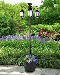 Outdoor Solar Lamp Post by Sun Ray Madison Solar Lamp Post And Planter Amazon Com