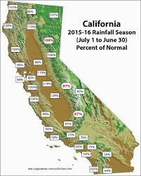 Csus Map California 2015 2016 Rainfall Season