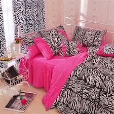 Zebra Bed Set Collection Of Zebra Pink 4pc Bedding Set Children S Bedding