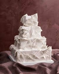 Origami Wedding Cake - these fabric inspired wedding cakes make for fashionable desserts
